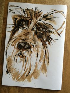 Pippa. Stick, ink & coffee drawing - Nicky Heard Coffee Drawing, Art Work, Ink, Drawings, Artwork, Work Of Art, Sketches, India Ink, Drawing