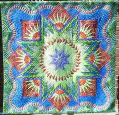 Glacier Star, Quiltworx.com, Made by CI Jennifer Eubank, Quilted by Ardelle Kerr of Rose City Quilter