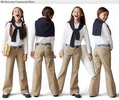 Girl's School uniform dress up inspiration. Toddler School Uniforms, Back To School Uniform, School Uniform Fashion, Kids Uniforms, School Wear, School Dresses, School Outfits, Kids Outfits, Fashion Kids