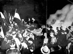 May 10, 1933 - A public burning of books in Berlin, Germany