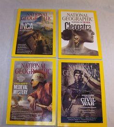 National Geographic Magazine Lot 4 Issues 2011 & 2012 Civil War Inca Cleopatra #ebay #GotPicks