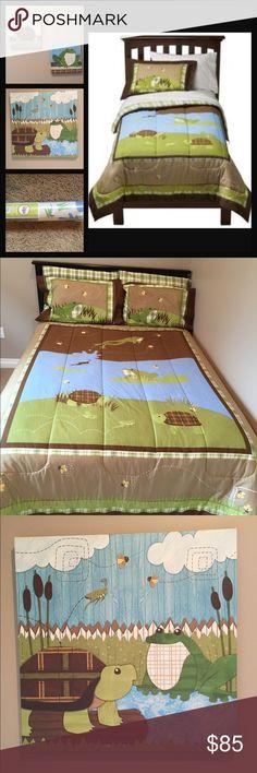 Circo ~Like New ~Backyard Friends Bed Set w/Decor Circo ~Like New ~Backyard Friends Full Size Bed Set & Decor ~Bed set includes Full Sized Comforter, Two Standard Sized Shams & Full Size Bed Skirt. ~Decor includes (3)Canvas Prints (21x21 & 10x10 & 10x10) Circo Other