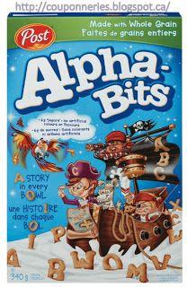 Coupons et Circulaires: .75¢ sur les Céréales ALPHA-BITS