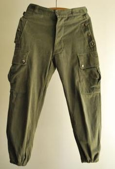 1960s french military pants - encore-boutique