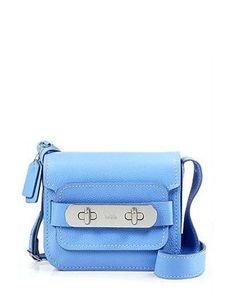 COACH Swagger Shoulder Bag in Pebble Leather - Exclusive Handbags - Bloomingdale's Best Handbags, Handbags On Sale, Leather Crossbody Bag, Leather Bag, Best Bags, Luxury Bags, Shoe Sale, Beautiful Bags, Pebbled Leather