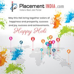 So here comes the time to celebrate life with colors and enthusiasm. Lots of Love. Enjoy!. Happy Holi!!  #Festival #Holi #HappyHoli #PlacementIndia #Holi2018