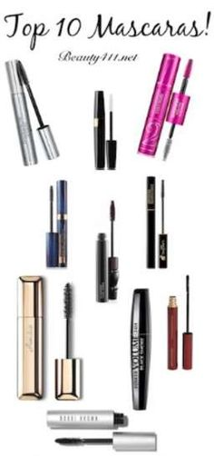 Top 10 Tried-and-true mascaras. Pin and save!