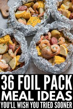 Festive dinner: 36 meals without cube in aluminum foil – barbecue – …. Festive dinner: 36 meals without cube in aluminum foil – Barbecue – … – foil packaging recipes – Foil Pack Meals, Tin Foil Dinners, Foil Packet Dinners, Camping Menu, Foil Meals For Camping, Camping Meal Planning, Campfire Meals Foil, Easy Camping Food, Grill Meals