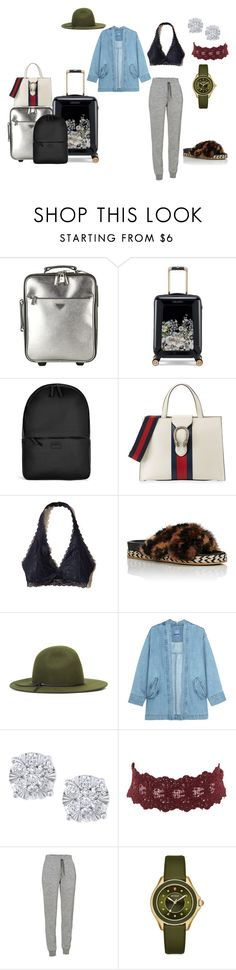 """""""Untitled #235"""" by carterraven on Polyvore featuring Prada, Ted Baker, Rains, Gucci, Hollister Co., Nine West, Steve J & Yoni P, Effy Jewelry, Charlotte Russe and Icebreaker"""