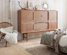 Houten vloer in de slaapkamer met 'patchwork' uitstraling - Variano parketvloer van Quick-Step