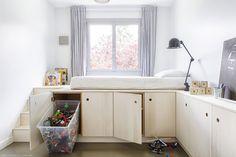47 Most Popular Apartment Bedroom Design Ideas Loft Bed Plans, Room Design, Interior, Small Room Design, Home Bedroom, Bedroom Storage, Bedroom Design, Kids Rooms Inspo, Small Room Bedroom