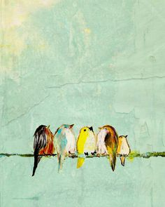 little baby dinosaurs    spring birds by Karla Aron
