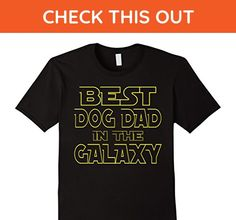 Mens BEST DOG DAD IN THE GALAXY FUN BIRTHDAY FATHER'S DAY T-SHIRT Large Black - Animal shirts (*Amazon Partner-Link)