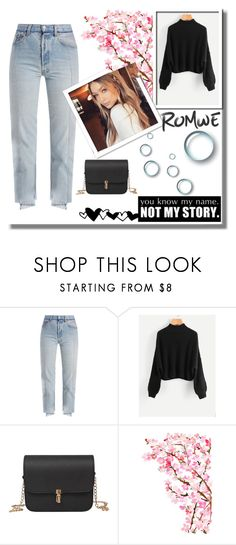 """""""Romwe"""" by dark-and-cloudy ❤ liked on Polyvore featuring Vetements"""