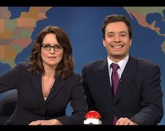 Tina Fey and Jimmy Fallon SNL- Weekend Update