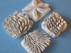 Biodiversity '13 coral reef art tile set, Ceramic wall hanging, ocean art, beach art, summer art, wall sculpture, reef art. $125.00, via Etsy.