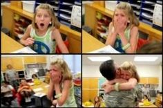 Daughters surprise visit from Soldier Dad