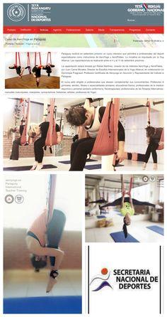 yogacreativo.com: AeroYoga® International con la Secretaria Nacional de Deportes de Paraguay, #wellness #ejercicio #moda #tendencias #fitness #yogaaereo #pilatesaereo #bienestar #aeroyogamexico #aeroyogabrasil #yogaaerien #aeropilates #aeroyoga #aeropilatesbrasil #aeropilatesmadrid #aeropilatesmexico #weloveflying #aerial #yoga #pilates #aero #medicina #salud #aeroyogaparaguay #aerialyoga #belleza