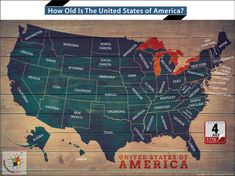 How old is America in 2019 The United States would be 243 years old in the year 2019 if the date is counted from July 4 1776 the day declaration of Independence was signed. Chicago River, Ohio River, States In America, United States, Lake Michigan, Wisconsin, America Washington, Kansas Missouri, Geography Map