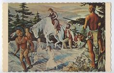CHARLESTOWN New Hampshire NH ABENAKI INDIANS Capture JOHNSONS Sargent Postcard