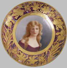 Royal Vienna Portrait Plate | Royal Vienna Portrait Plate 'Ross' (700x707)