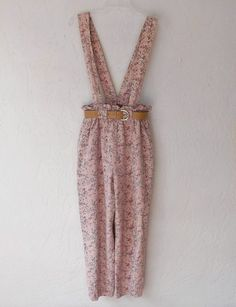 Vintage Overalls Pants 80's High Waist Tiny Floral by luvofvintage, $32.00