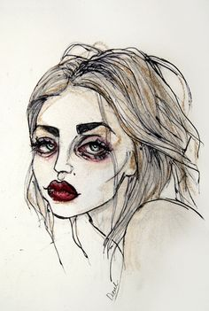 Frances Bean Cobain no.3 Art Print by Lucas David