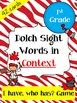 Sight Words in Context I Have, Who Has Game (Dolch 1st Grade)