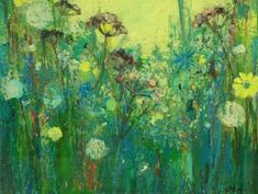 Seed Heads With Yellow Sky contemporary Scottish Paintings. View all Ann ORAM art and Scottish artwork at Red Rag art gallery. Modern Artists, Contemporary Artists, Modern Contemporary, Yellow Sky, Abstract Flowers, Painting Inspiration, Flower Art, Vibrant Colors, Art Gallery