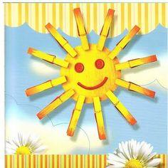 Manualidades pinzas sol