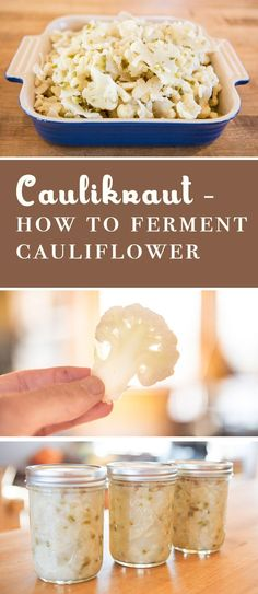 How to ferment Cauliflower. This recipe is fairly straightforward and includes only Cauliflower and Jalapeños, and of course some salt. While the recipe uses jalapeños, it's not really that spicy of a dish. Carrot Recipes, Cauliflower Recipes, Candied Carrots, Fermentation Recipes, Sauerkraut Recipes, Chef's Choice, Dessert, Fermented Foods, Vegetable Recipes