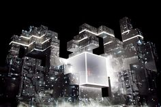 'isam' live | amon tobin.  projection mapping