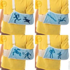 Cleverly Designed Inventions so you won't have to repeat how you broke your arm every 5 seconds! Hah