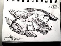 ArtStation - SpaceshipADay 130, Jeff Zugale