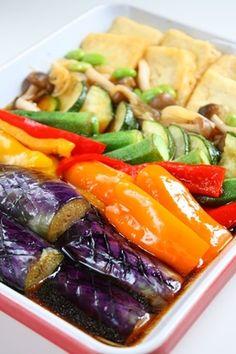めんつゆと寿司酢で★夏野菜の和風マリネ