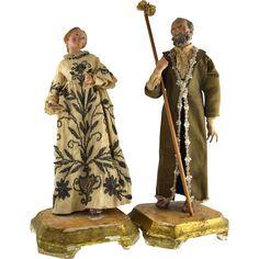Vintage Neapolitan terra cotta creche figures.