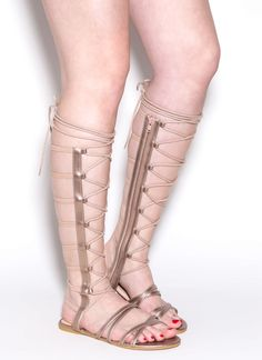 We just upped the ante with these gorgeous gladiator sandals.