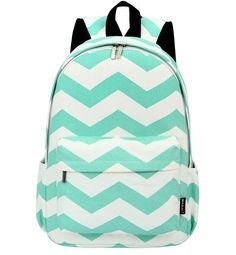 "West Beauty Causal Lightweight Canvas Cute Backpacks Notebook Computer 15"" Laptop School Rucksack Daypack Backpack (Green)"