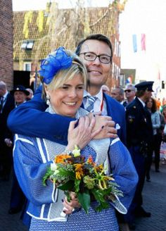 Dutch Prince Constantijn and Princess Laurentien attend the 2014 King's Day celebrations in De Rijp