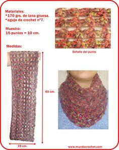 Bufanda infinita en crochet - Crochet infinity scarf