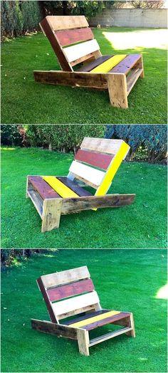 pallet garden chair plan