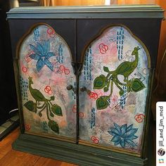 Wow! What a stunning piece by @jill_and_jim_mcd! She's repurposed a music cabinet she found at @goodwillintl with #stencilgirl designs by @gwenaval @jessica_sporn and @treicdesigns! Now Jill's art supplies have a new home inside this gorgeous piece!! We love it!
