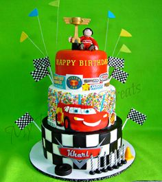 Kharls Cars themed birthday cake