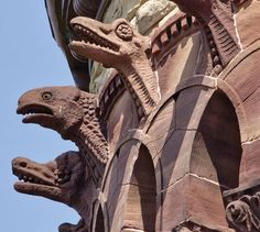 Dinosaurian like chimera - Ohio.  Photo from The Ohio State University Alumni Association