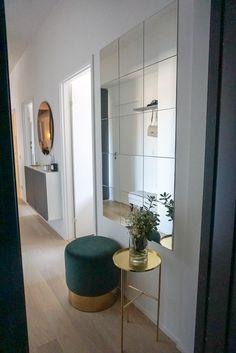 Ikea Hallway, Entryway Wall Decor, Dining Room Wall Decor, Hallway Decorating, Diy Room Decor, Home Decor, Interior Design Living Room, Living Room Designs, Ikea Mirror