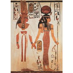 Ancient Egyptian: Sheath Dress or beadnet dress; left figure is wearing a double schenti, one opaque under skirt and one sheer over skirt. Both figures appear to be wearing beaded collars or necklaces.