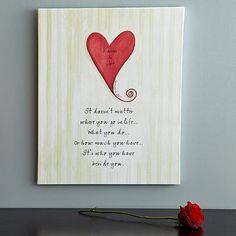 Heart Wedding Canvas