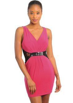 Discounted Cocktail Dress (Pink) in DRESSES