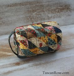 Yoko saito inspired sewing bag - ornamental corn - moda fabric
