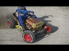 Gokart Plans 429882726925169128 - The Diesel Weasel Mow-Cart is Home-Built Rat Rod Mayhem – Hot Rod Network Source by sguilloux Custom Go Karts, Rat Rod Pickup, Go Kart Plans, Diy Go Kart, Drift Trike, Weird Cars, Pedal Cars, Mini Bike, Wheelbarrow